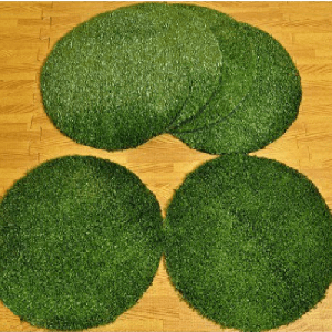 30cm Artificial Grass Circles (6pk)