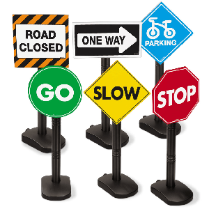 Playtime Roadway Signs
