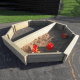 8ft Outdoor Sand/Ball Play Pit