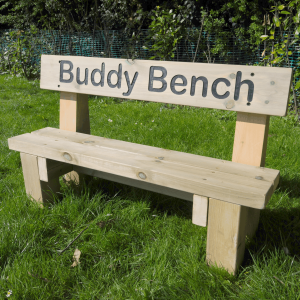 Mini Outdoor Wooden Buddy Bench