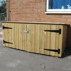 Lockable Storage Unit with Felt Roof