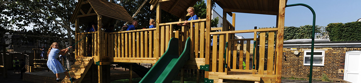 Primary school play equipment supplied by Sovereign
